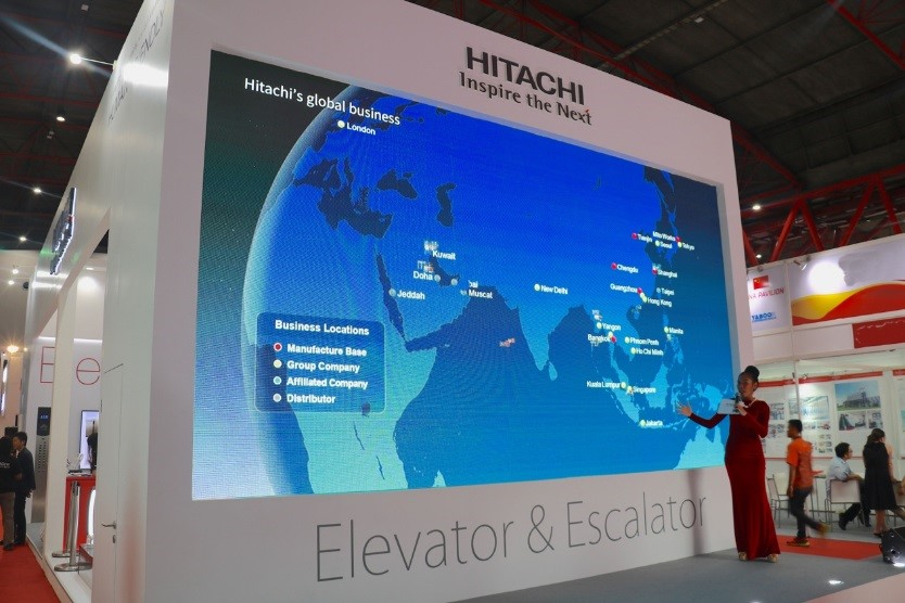 To accelerate globalization -- HITACHI Elevator appears at Indonesia LIFT&ESCALATOR Expo